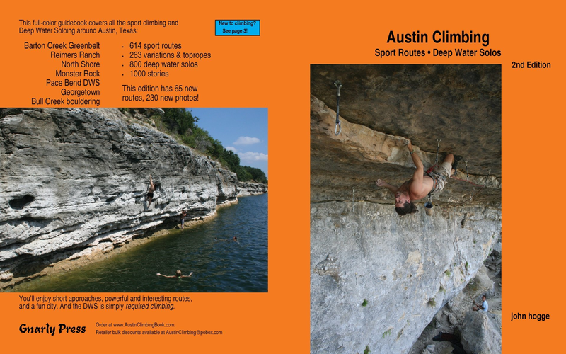 Front and Back cover of the Austin Climbing guidebook