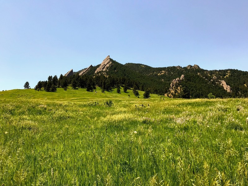 A far out look at the Flatirons.