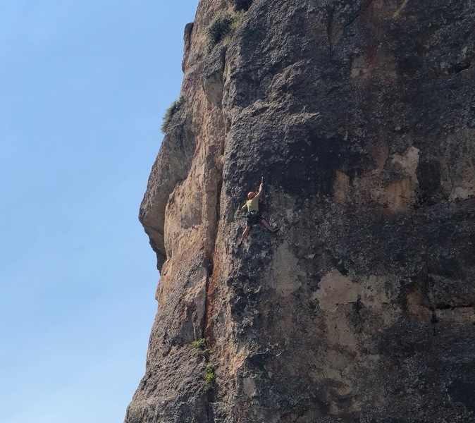Steve clipping before the last crux