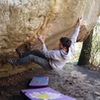Sticking the heartbreak move of the boulder. Awesome line!