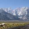 Looking at Mt. Whitney on the way to Whitney Portal