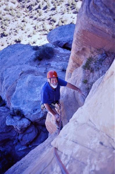 Chris Bonnington at Colorado National Monument with Paul Ross.