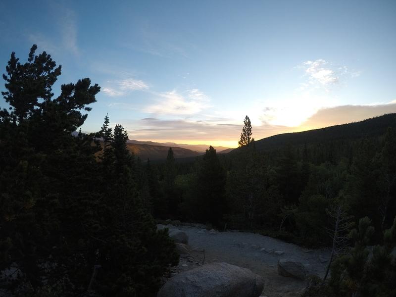 Just above Alberta Falls. Sunrise