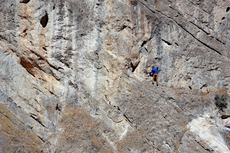 Dallin Weeks just before the crux.