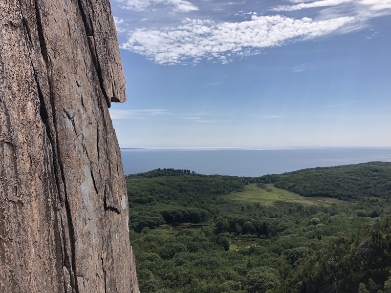 View from the top of pitch 1