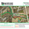 Mad River Gorge Area Map- Note that the area on the north side (by the Masonic Home) will not be officially opened to the public until the pedestrian bridge is constructed).