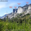 Flathead Buttress, Shoshone Spire, Nez Perce Spire, Blackfoot Dome