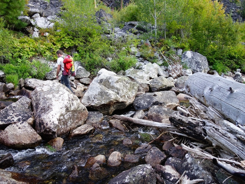 Crossing the creek (late summer).