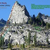 Photo Route Overlay: South Face of Shoshone Spire