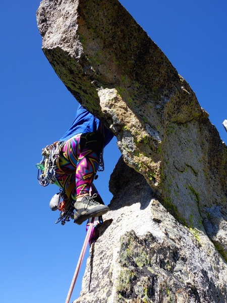 The airy bouldery move at the start of Pitch 2.