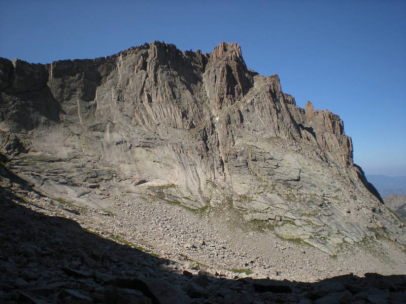 The Sweeping East Face of the Arrowhead as seen from McHenry's Peak.