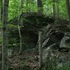 Some rocks further up the trail from Creature (on the path walking out to the quarries)