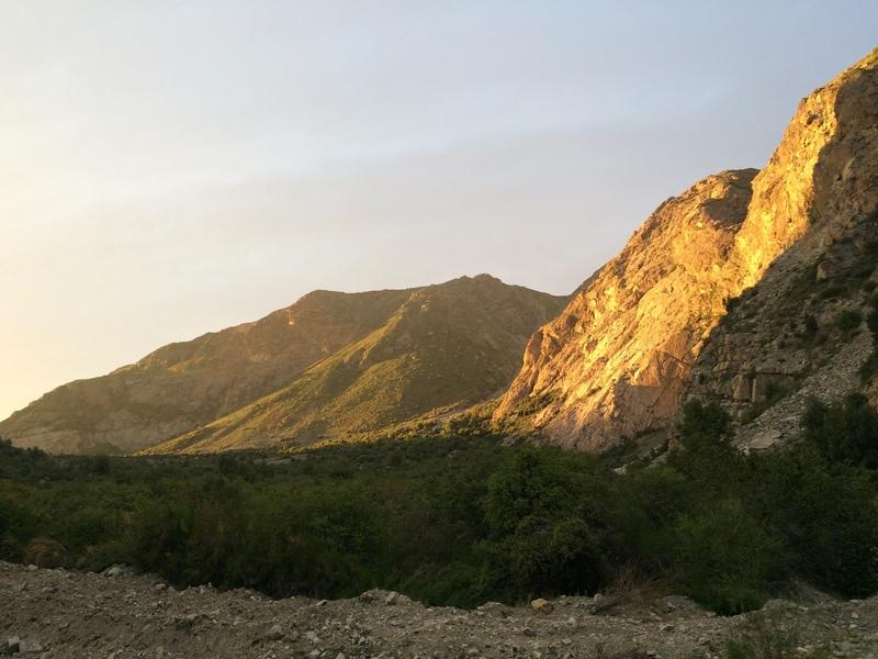 Looking back on Pared Stuardo in Pangal nearing sunset