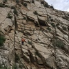The upper wall at Pared Stuardo.  I believe Claudio is on Calafate (6b)