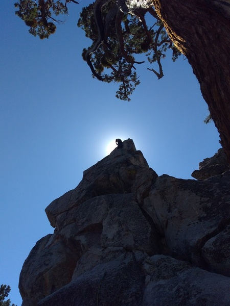At the anchors on Blue Sky Highway (5.6), Onyx Summit Crag