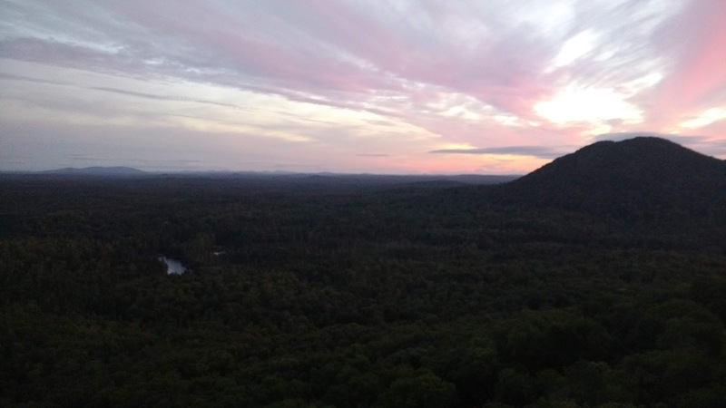 Sunset view from the top of the Equinox Face