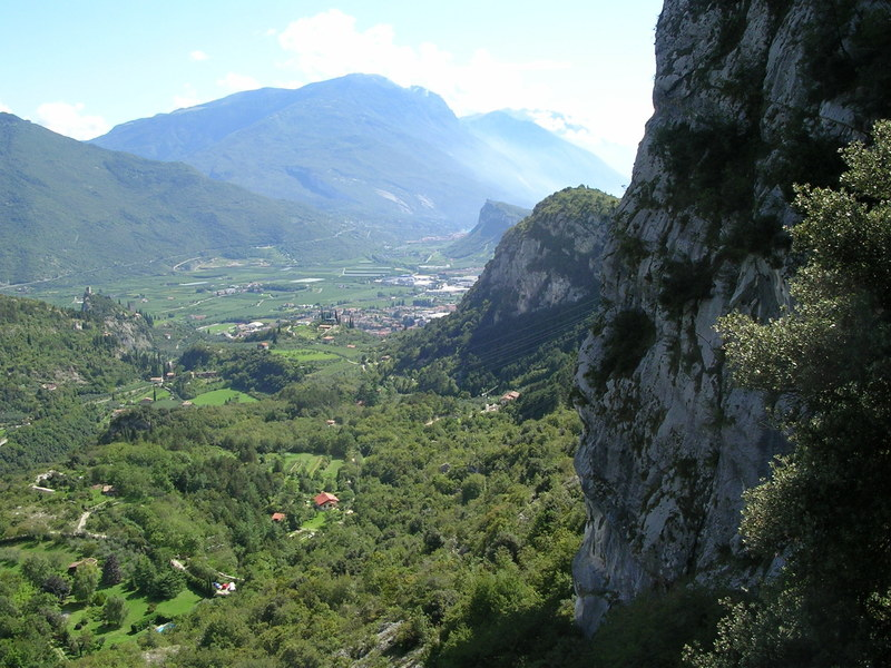 View from the top back towards Arco.