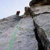 Fun climbing on Pitch 2.