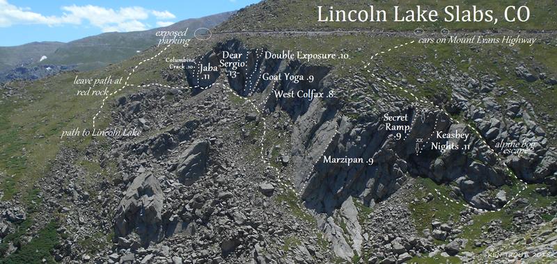 Lincoln Lake Slabs, Colorado.