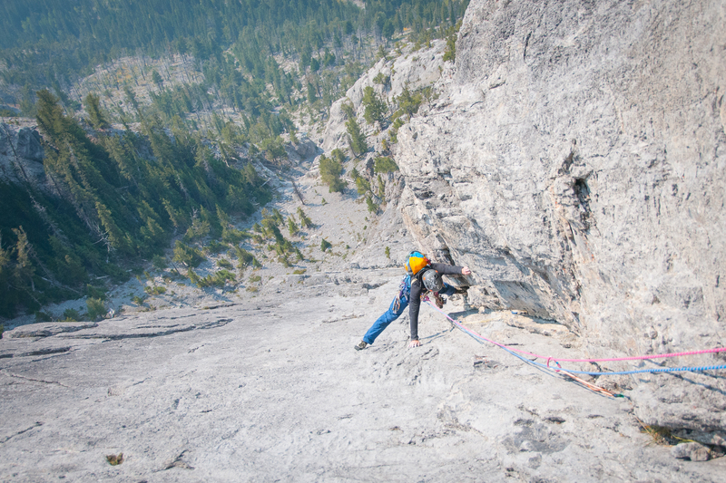 Justin follows the final pitch. Good gear, sweet stems, and a wild position