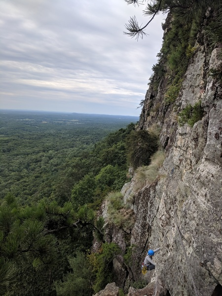 The 5.8 crack from the belay station