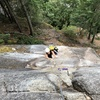 Tiffany deciding she likes trad more than bouldering in this exact moment on Jabberwocky.