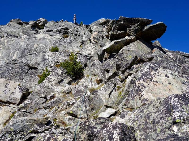 Pitch 5 easy climbing to the top.