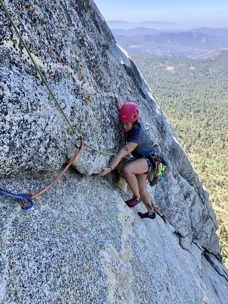 Kristen on P3 before pulling over the top arch