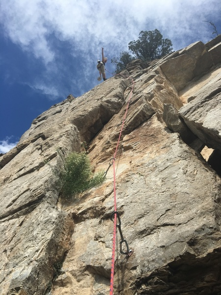 Erin's first clean ascent on a 10