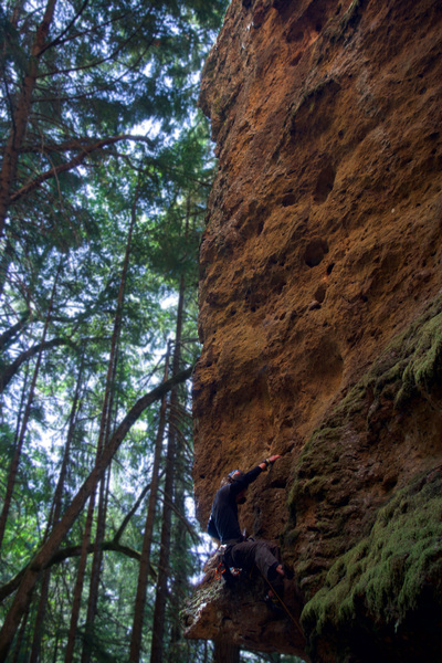 Large holds really add to the enjoyment of the climb