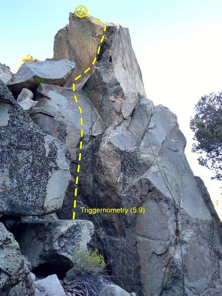 Triggernometry (5.9), Onyx Summit Crag
