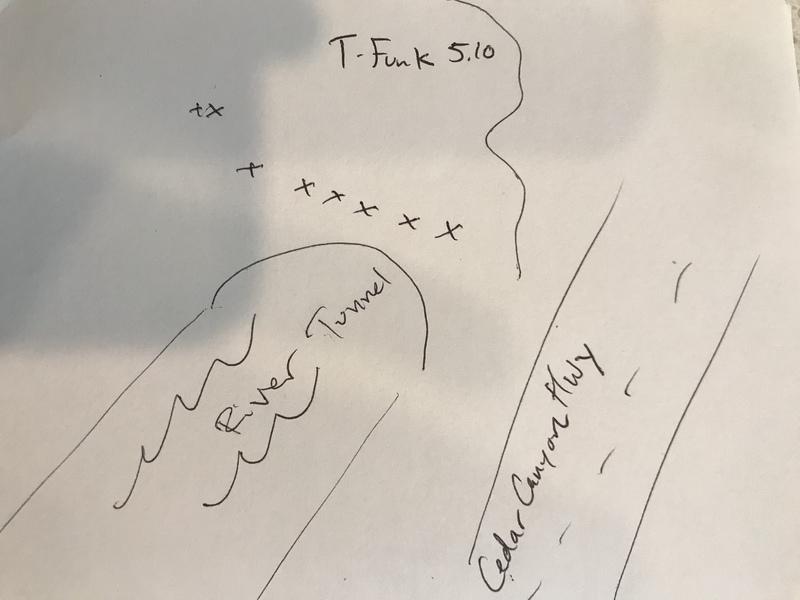 T-Funk sideways route.