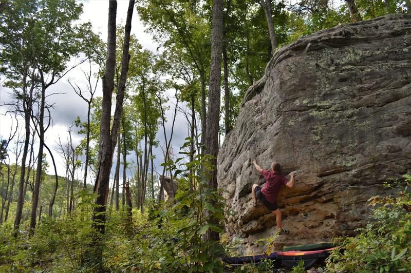 Jason climbing Portrait of Dorian Gray