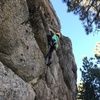 Mitchell (9 yr old) at the crux