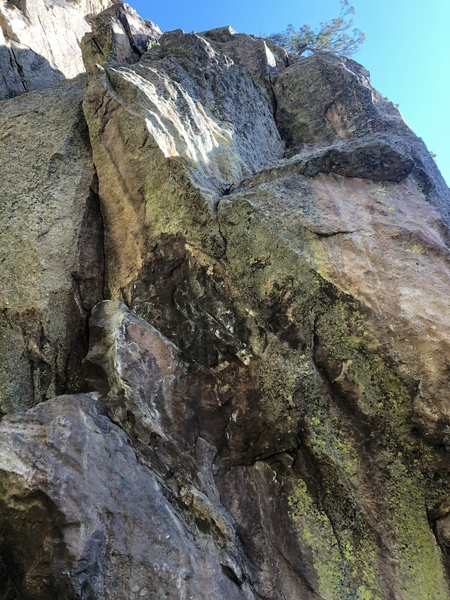 The upper part of the climb.