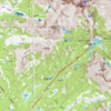 Full map in with climber trail spur in pink.
