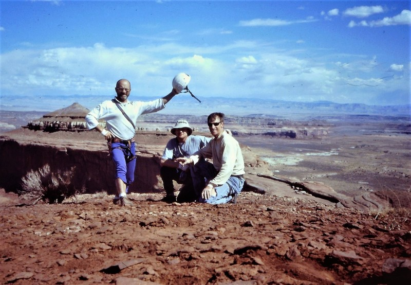 On the summit of Lost World Butte  L to R Paul Ross,Andy Ross , Jim Howe