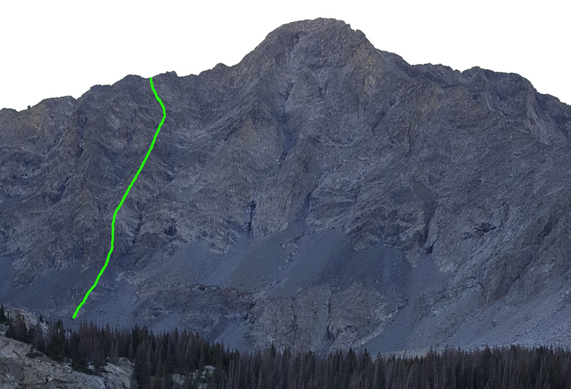 The green line marks the route which has very straightforward route finding.