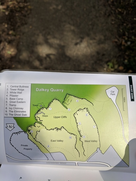 Dalkey Quarry Layout (Dalkey Quarry Rock Climbing Guide 2005)