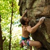 Pondering the moves into the final crux
