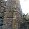 Jim Beam Arete (5.10c), Keller Peak