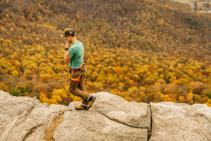 Anders Henson on the Summit of Mt. Yonah, Fall 2017.
