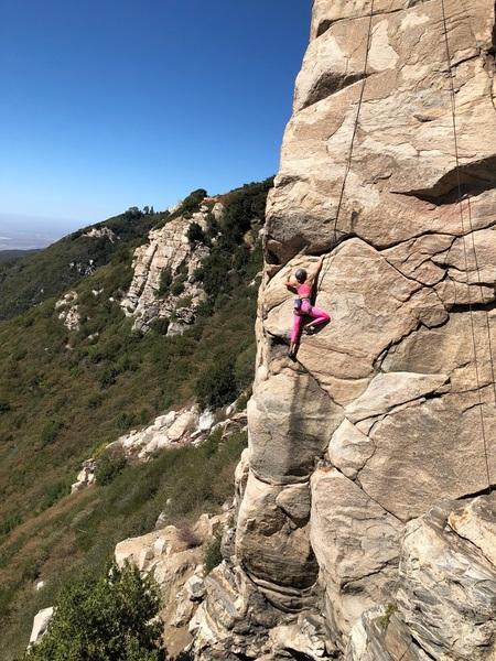 My daughter Kelsey having some fun.