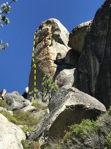 Deceptive Pillar West Face