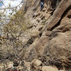 Easy fun unnamed route, slightly further back and below from western slabs at Point of Rocks