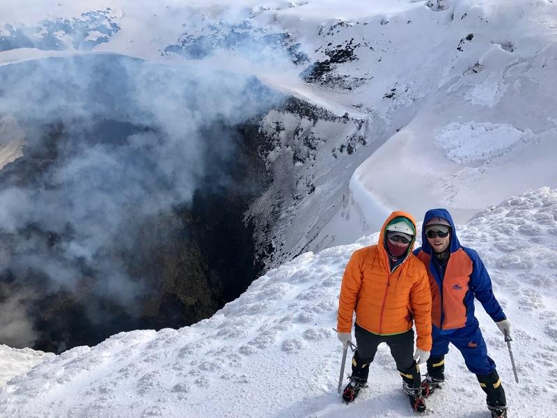 The summit. The lava lake below