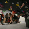 Bouldering at the Richmond Rumble Comp