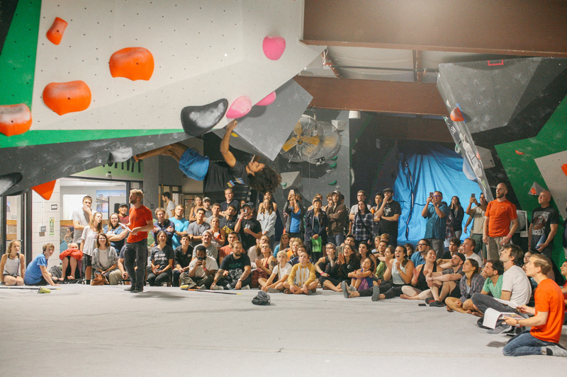 Bouldering Finals at Richmond Rumble Comp