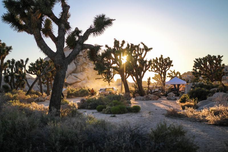 Hidden Valley campground sunset