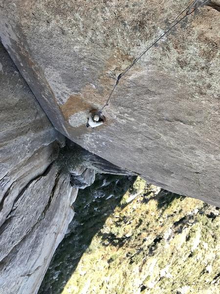 Sam climbing Thin Ice